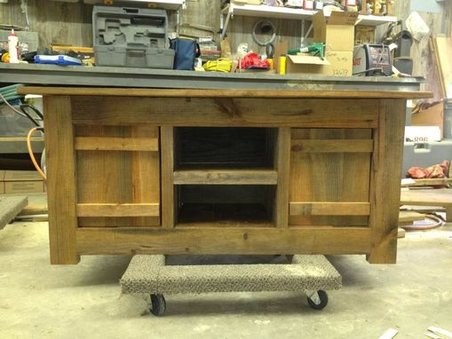 Custom Made Rough Sawn Pine Tv Console