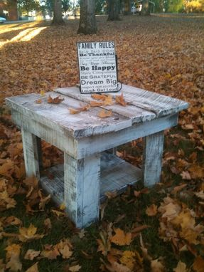 Custom Made Barnwood End Table (Neufield Collection)