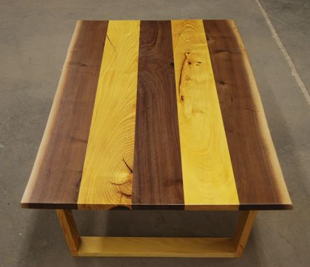 Custom Made Live Edge Combination Walnut And Osage Orange Coffee Table