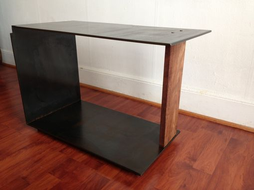 Custom Made Szk Metals 'Xy' Modern Minimalist Sculptural Metal Coffee / Side Table