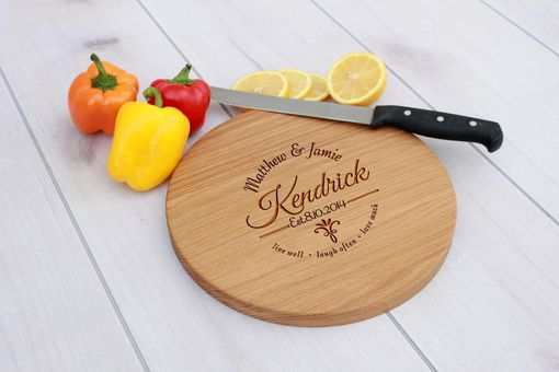 Custom Made Personalized Cutting Board, Engraved Cutting Board, Custom Wedding Gift – Cbr-Wo-Kendrick