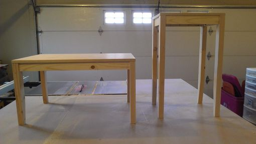 Custom Made Pine And Maple Coffee And End Table