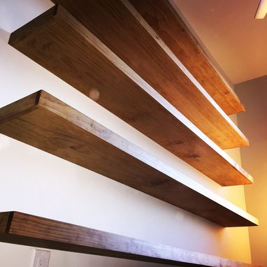 Custom Made Pine Floating Shelves