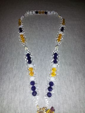 Custom Made Los Angeles Lakers Swarovski Crystal Ladder Sports Rosary