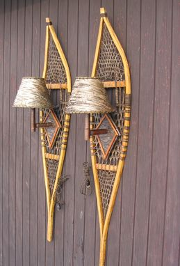 Custom Made Snow Shoe Sconces