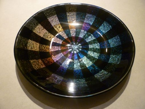 Custom Made Fused Glass Bowl - 18''