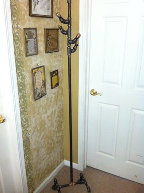 Custom Made One Of A Kind Repurposed Pipe Coat Rack