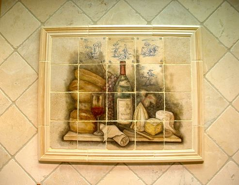 Custom Made Old World Style Tile Mural