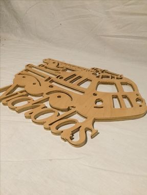 Custom Made Firetruck Personalize With Your Name Wood Cut Kid Art