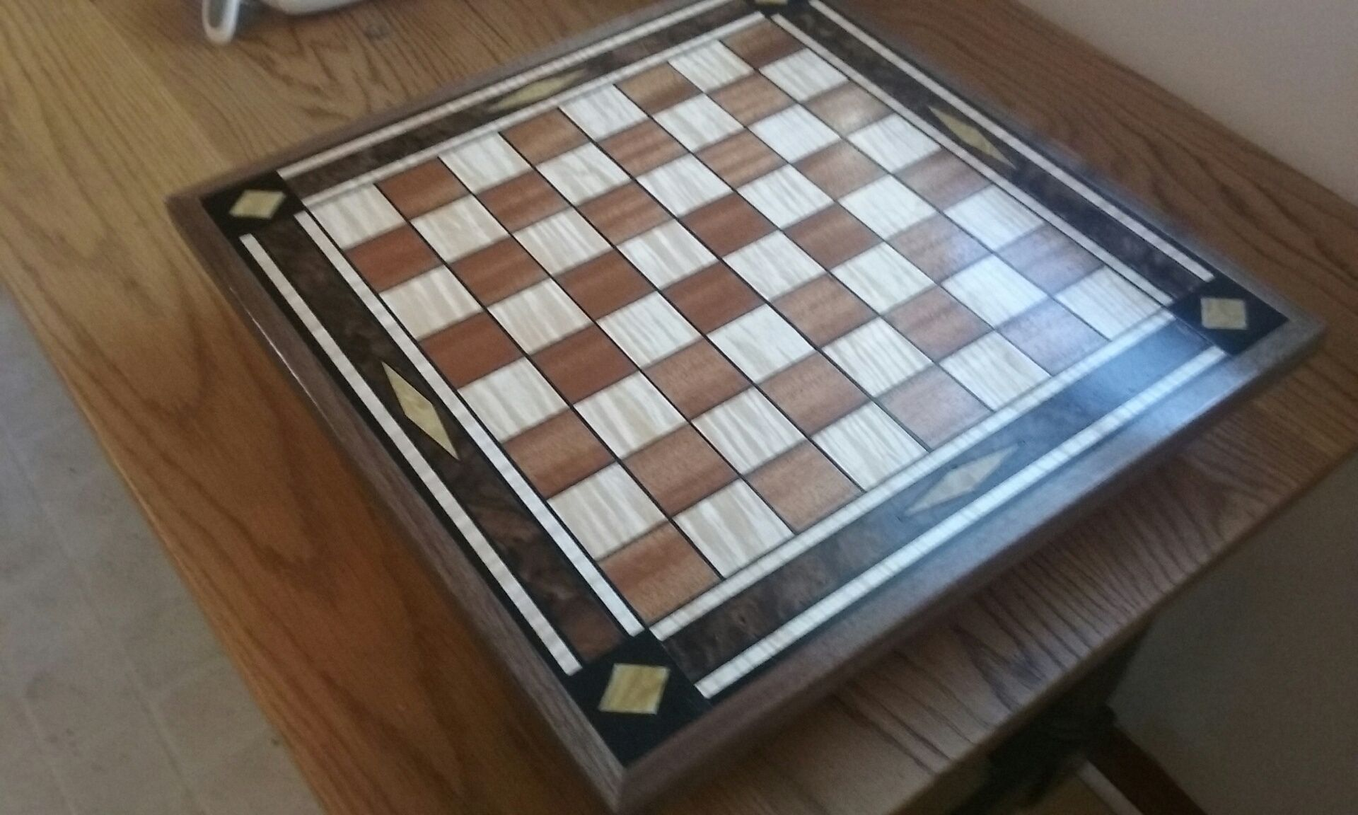 Buy A Hand Made Walnut Marquetry Chessboard Made To Order