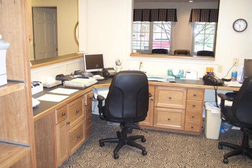 Custom Made Cherry Medical Office Cabinets