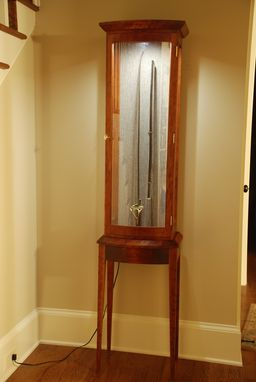 Custom Made Confederate Sword Cabinet