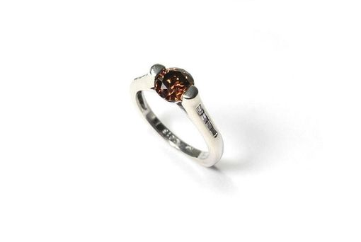 Custom Made White Gold Cognac Diamond Ring