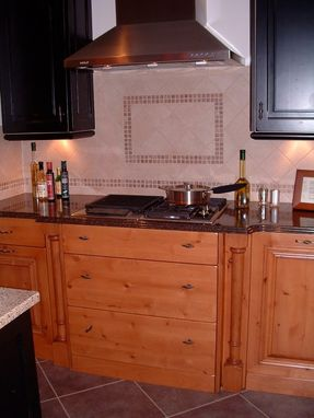 "Custom Made Knotty Alder ""Santa Barbara"" Kitchen"