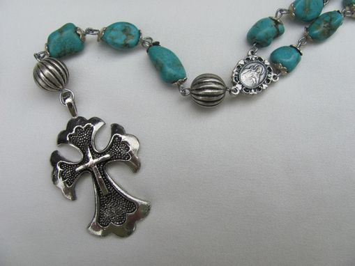 Custom Made Large Turquoise Nugget Rosary