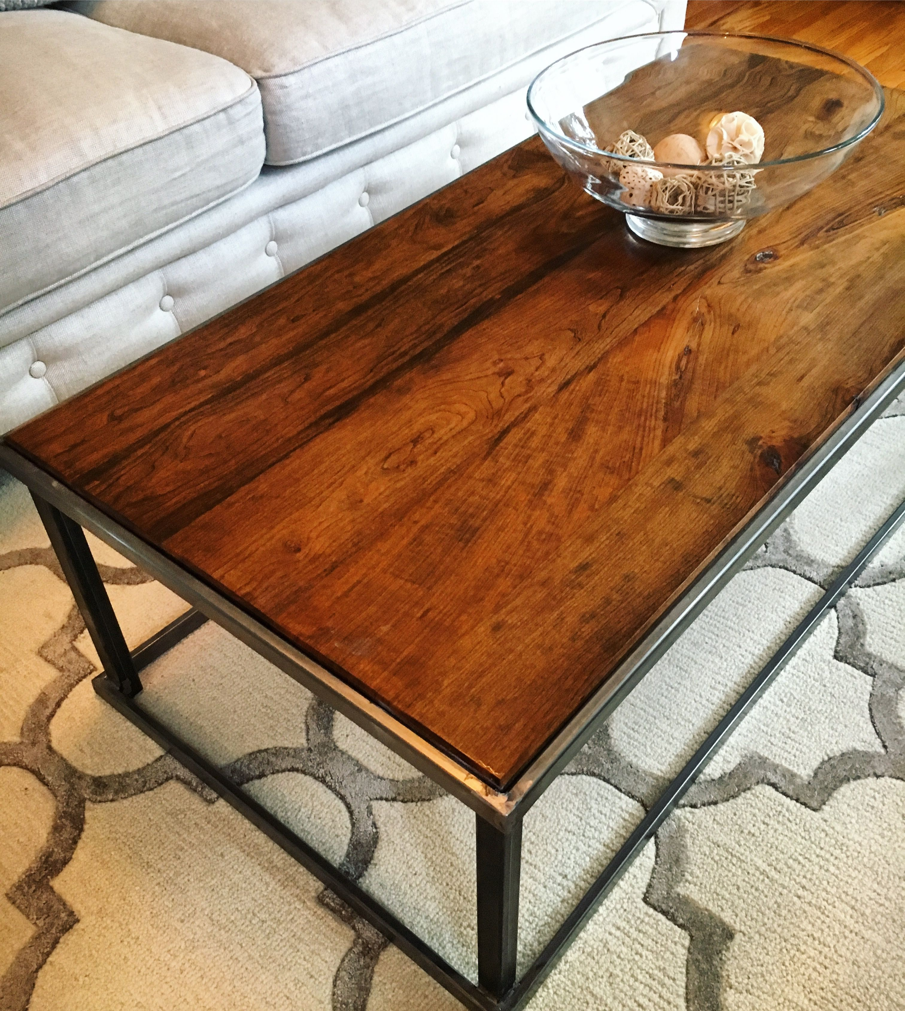 Solid Stainless Steel Coffee Table: Handmade Solid Cherry And Steel Coffee Table By Rebel