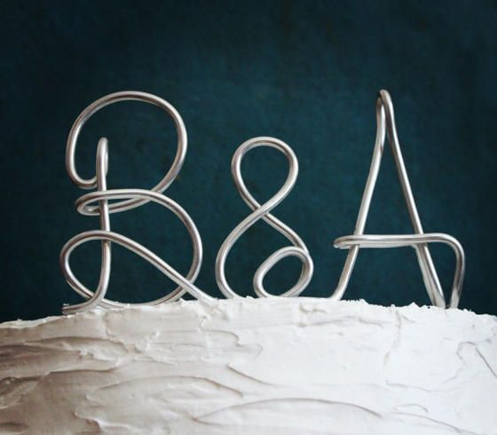 Metal Initials Buy A Handmade Custom Monogram Or Initials Metal Wedding Cake