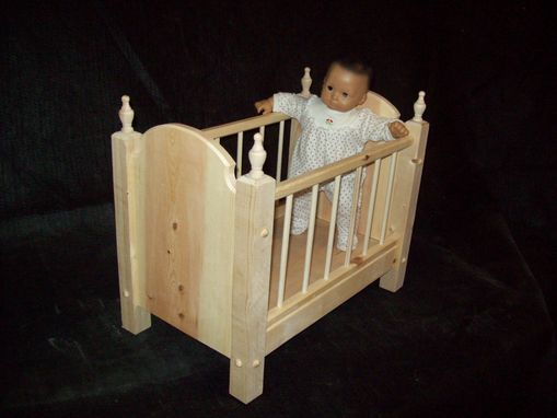 "Custom Made Crib For Bitty Baby Or Any 15"" Doll"