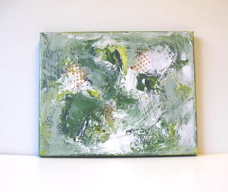 Custom Made Green Acrylic Abstract Painting