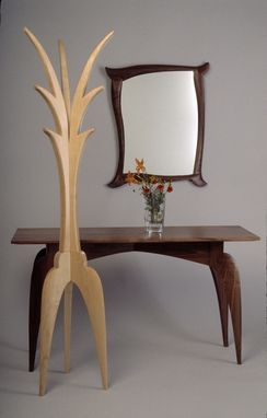 Custom Made Tango Hall Table, Coat Rack And Mirror