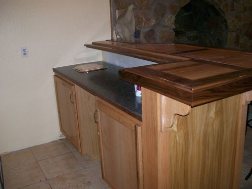 Custom Made Wet Bar Made Of Red Oak And Walnut