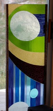 Custom Made Glass Mosaic Over Tempered Glass - Freestanding Sculpture