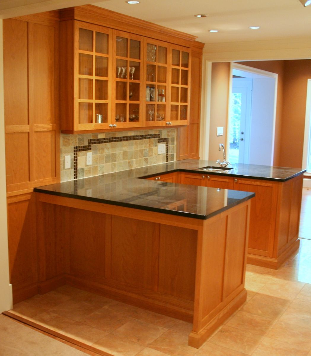 Custom Made Cherry Wet Bar By Blackdog Cabinetry