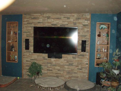 Custom Made Cabinets For A Faux Wall