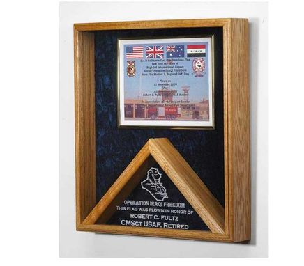 Custom Made Military Certificate And Flag Case - Flag Shadow Box