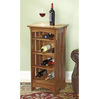 Custom Made Arts And Crafts Style Small Wine Rack