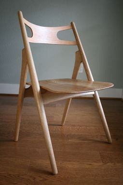 Custom Made Sawbuck Dining Chair, White Oak Or Walnut