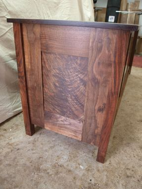 Custom Made Black Walnut Media Cabinet