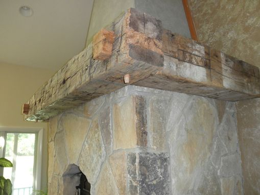 Custom Made Reclaimed Timber Mantel