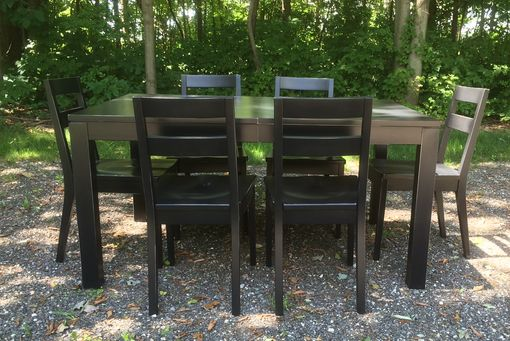 Custom Made Modern Dining Set With Distressed Finish