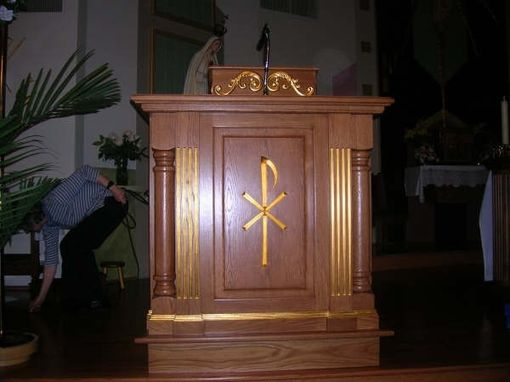 Custom Made Church Podium Carvings & Scroll Relief Moldings