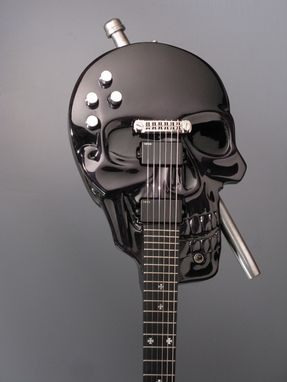 Custom Made Skull Baritone Electric Guitar