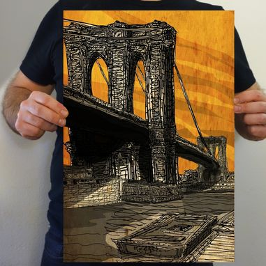 Custom Made The Brooklyn Bridge Art Print.