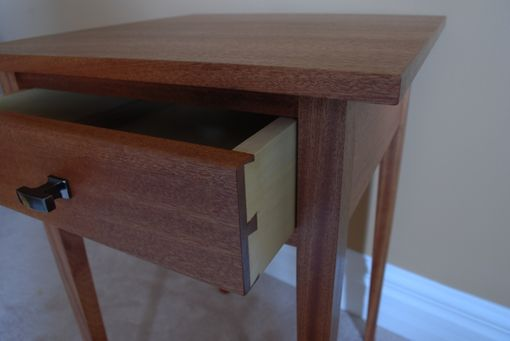 Custom Made Sapele Shaker Side Table