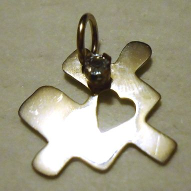 Custom Made White Gold Puzzle Piece Pendant