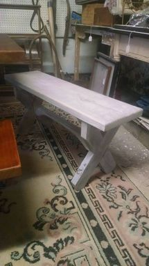 Custom Made Pickled Pine 3 Foot Bench