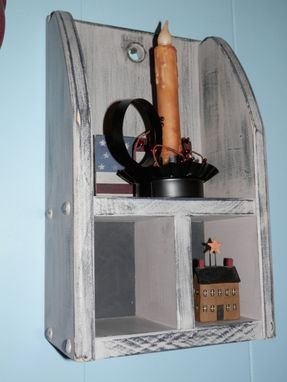 Custom Made Rustic Style Candle Shelf W/ 2 Cubbies