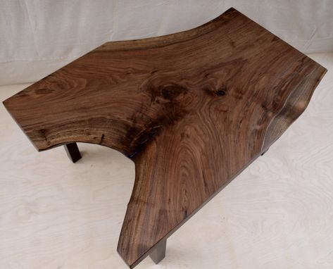 Custom Made Live Edge Walnut Coffee Table