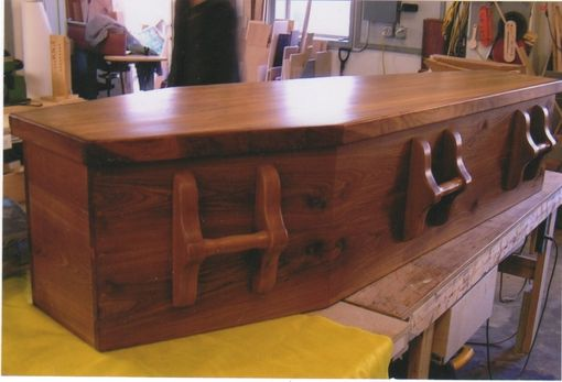 Custom Made Wood Casket For Natural Or Green Burial: Dark Tone
