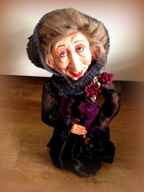 Custom Made Ooak Witch Grand Mother Gran Collectible Figurine Doll
