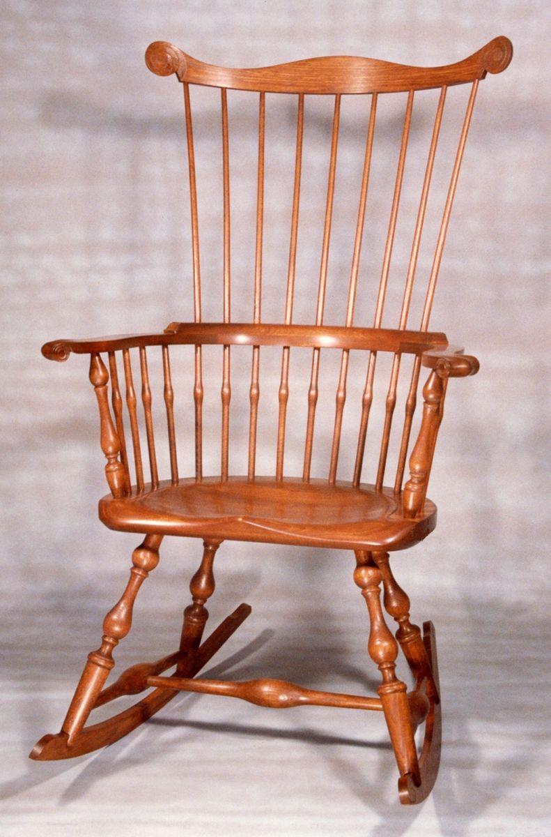 Custom Made Maine Windsor Comb Back Rocking Chair