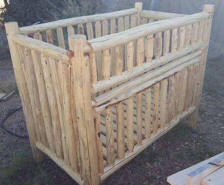 Custom Made Rustic Handmade Log Nursery