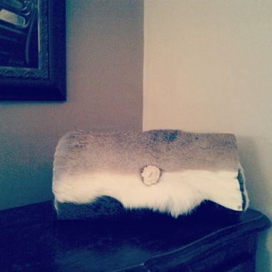 Custom Made Deerhide Clutch With Small Antler Piece