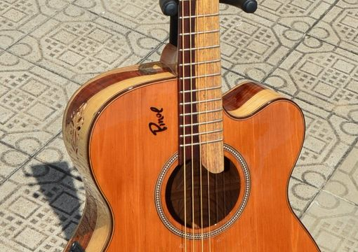 Custom Made Pinol Guitars And Ukuleles Solid Cocobolo Rosewood  Body/Mahogany Top (Free Shipping)