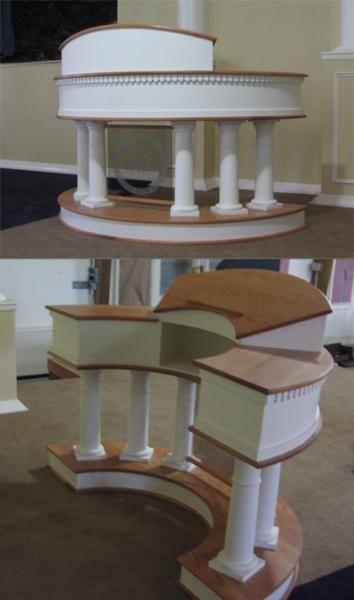 Fine Handmade Custom Church Pulpit By Andrew C Maher Custom Machost Co Dining Chair Design Ideas Machostcouk