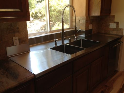 Custom Made Stainless Steel Countertops